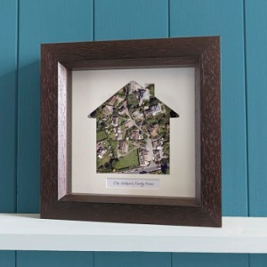 Our Home – Personalised Square Framed Aerial Photo