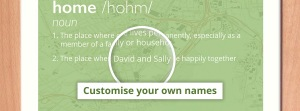 Customise with your own names