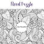 Floral adult colouring jigsaw