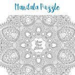 Mandala adult colouring jigsaw