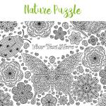 Nature adult colouring jigsaw